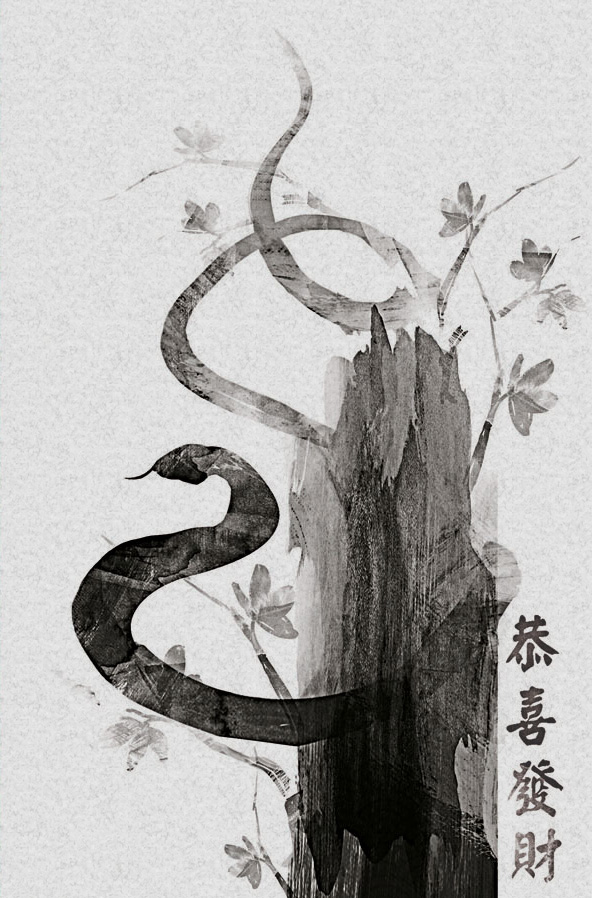 Chinese snake painting